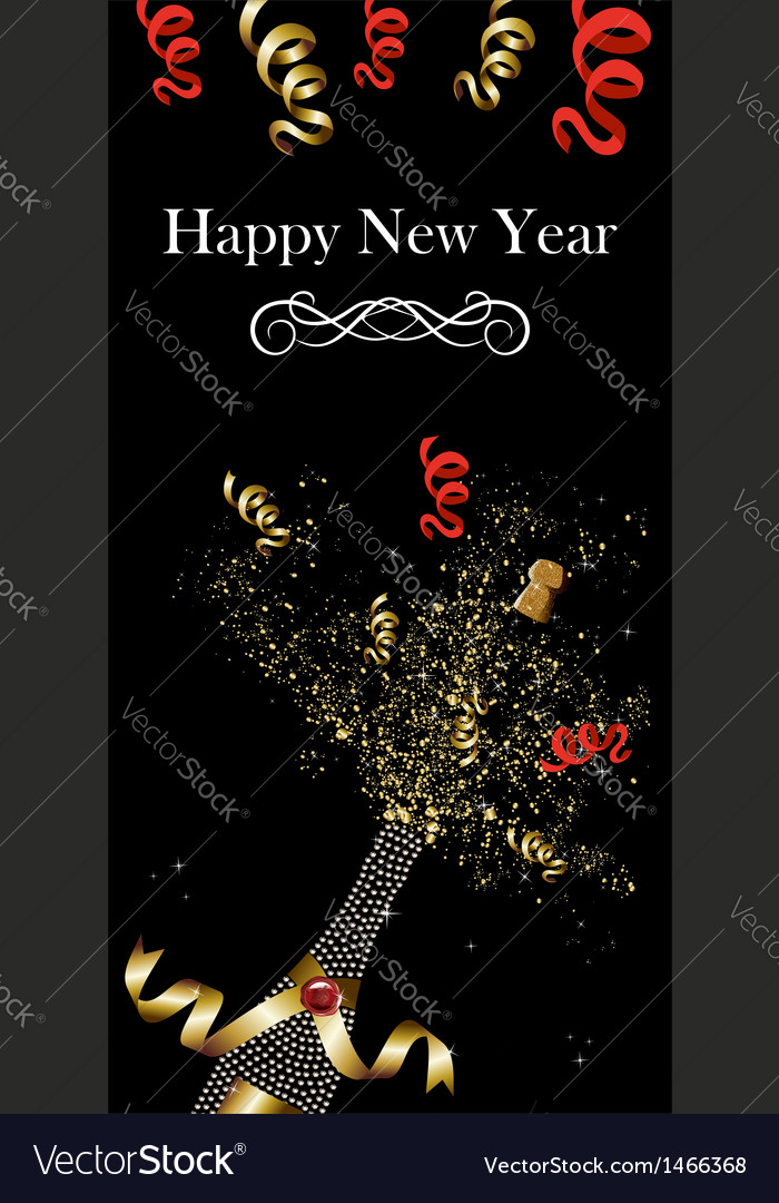 Champagne bottle new year vector | Price: 1 Credit (USD $1)