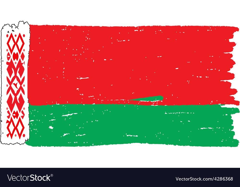 Flag of belarus handmade vector | Price: 1 Credit (USD $1)