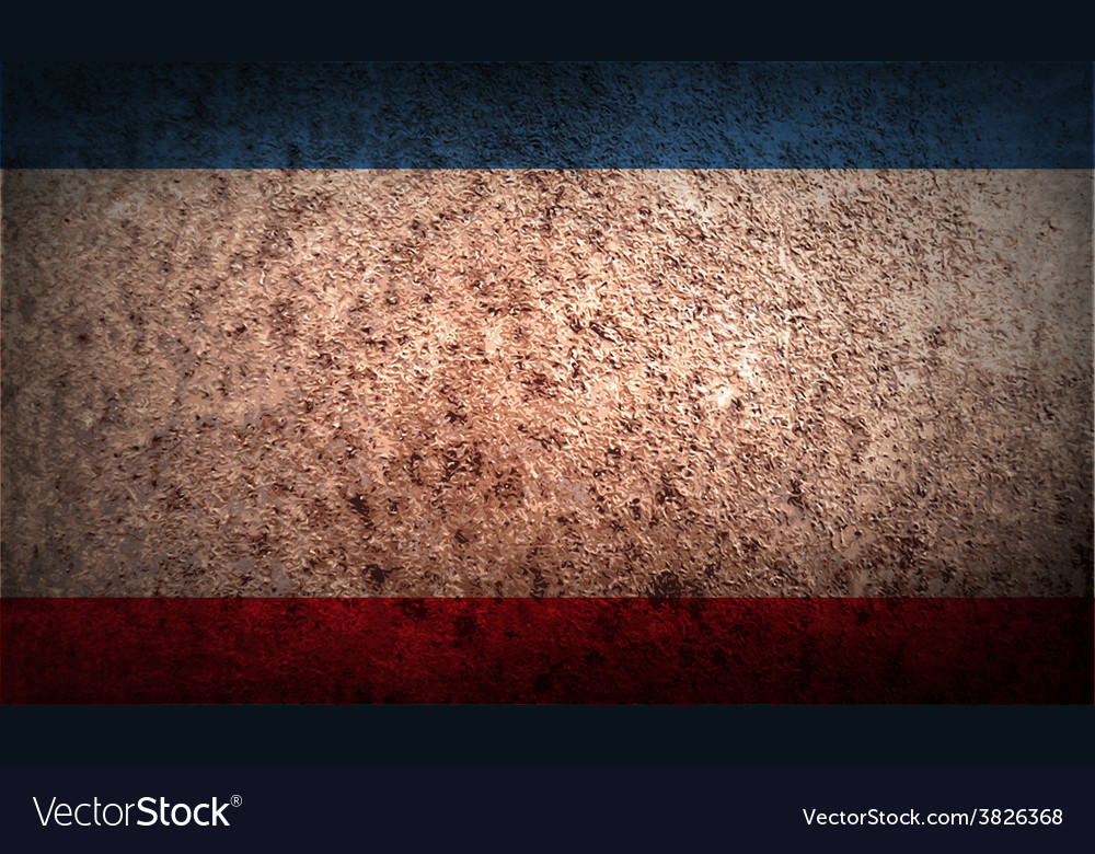Flag of crimea with old texture vector   Price: 1 Credit (USD $1)