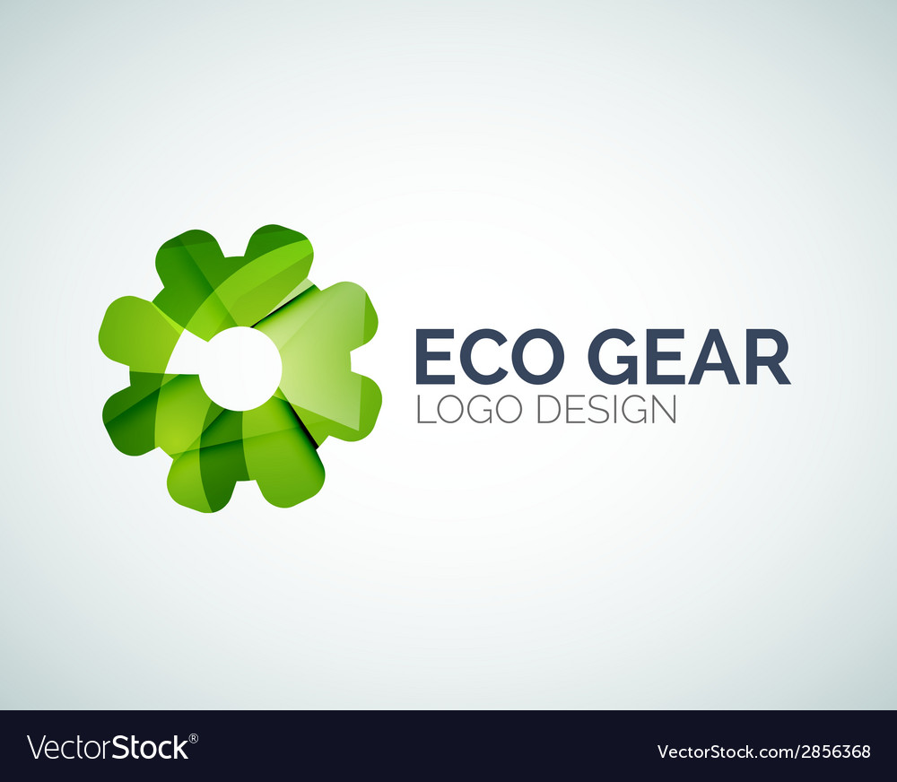 Gear logo design made of color pieces vector | Price: 1 Credit (USD $1)