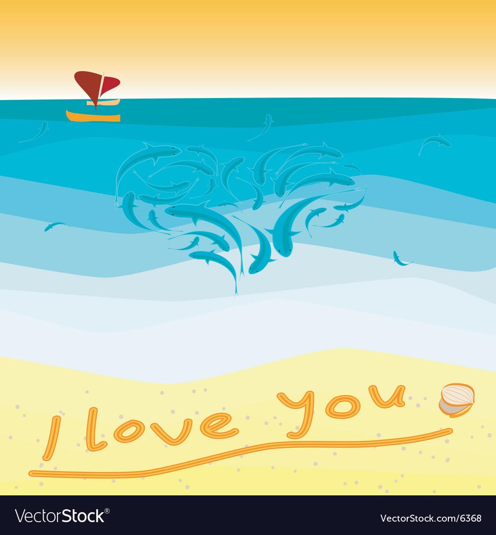Seaside confession vector