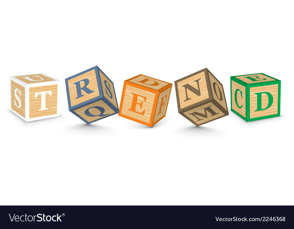 Word trend written with alphabet blocks vector | Price: 1 Credit (USD $1)