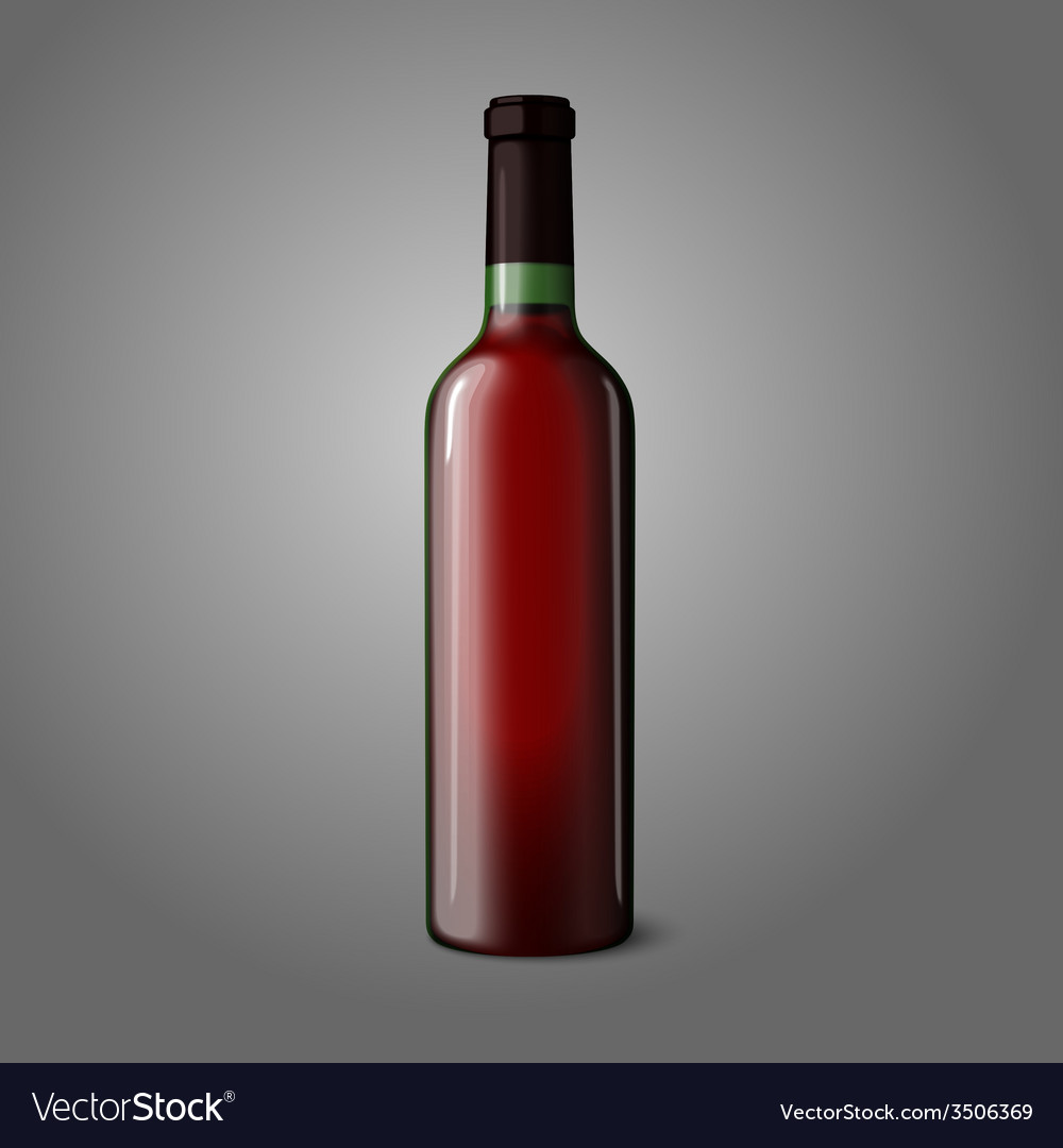 Blank green realistic bottle for red wine vector | Price: 1 Credit (USD $1)