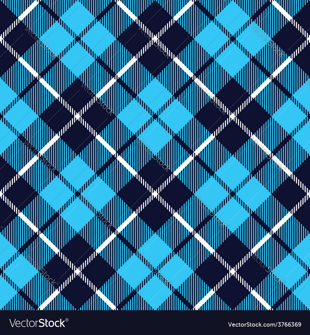 Blue tartan fabric texture diagonal little pattern vector | Price: 1 Credit (USD $1)