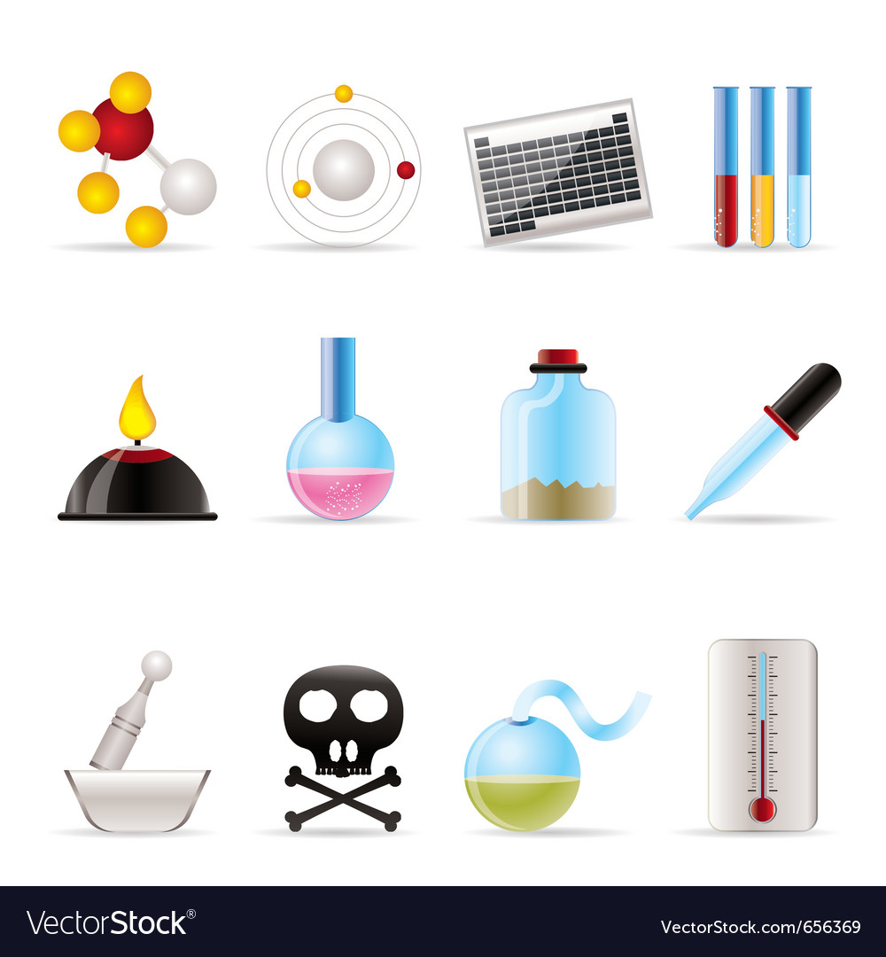 Chemistry industry icons vector | Price: 1 Credit (USD $1)