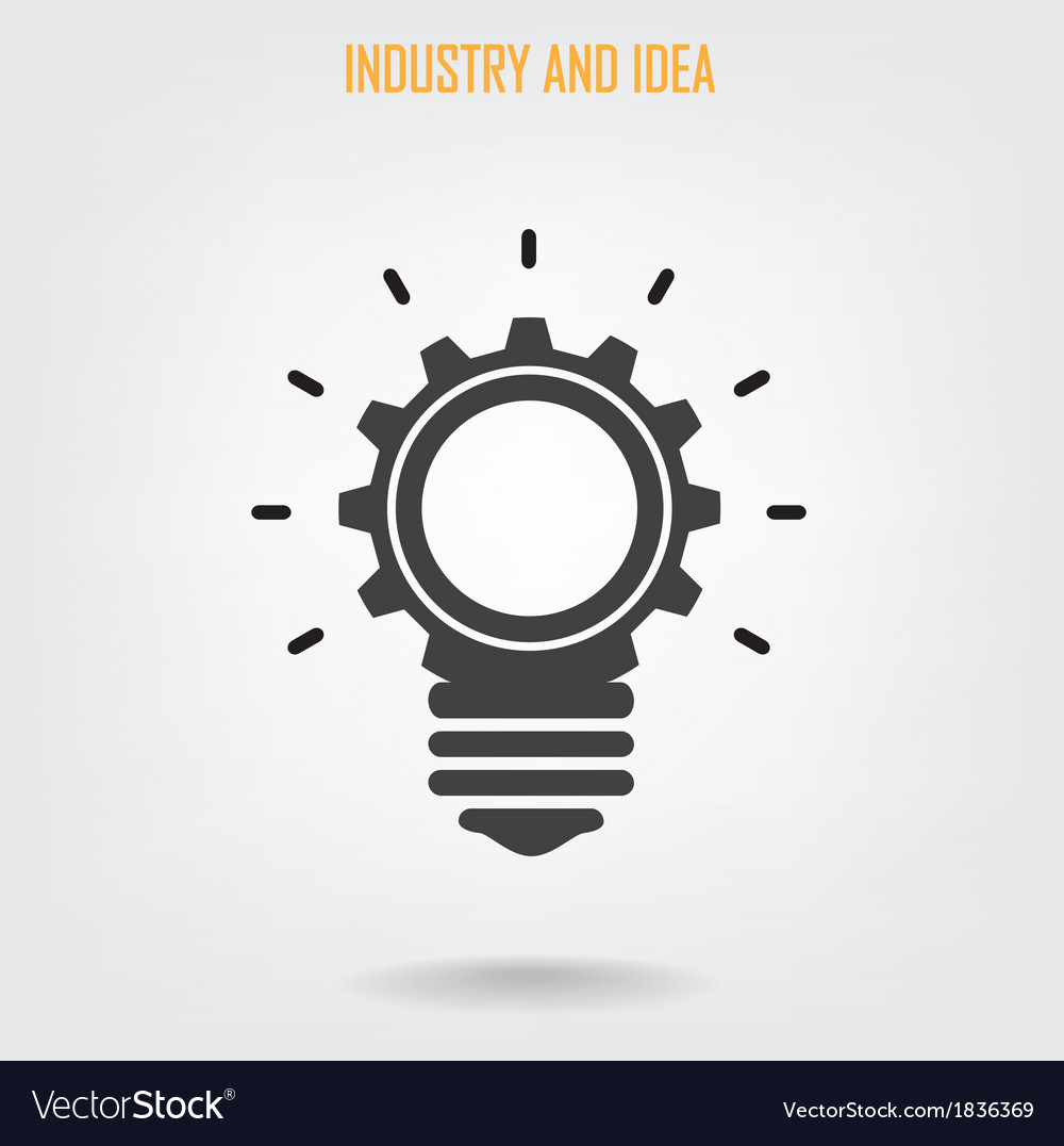 Creative light bulb concept background vector | Price: 1 Credit (USD $1)