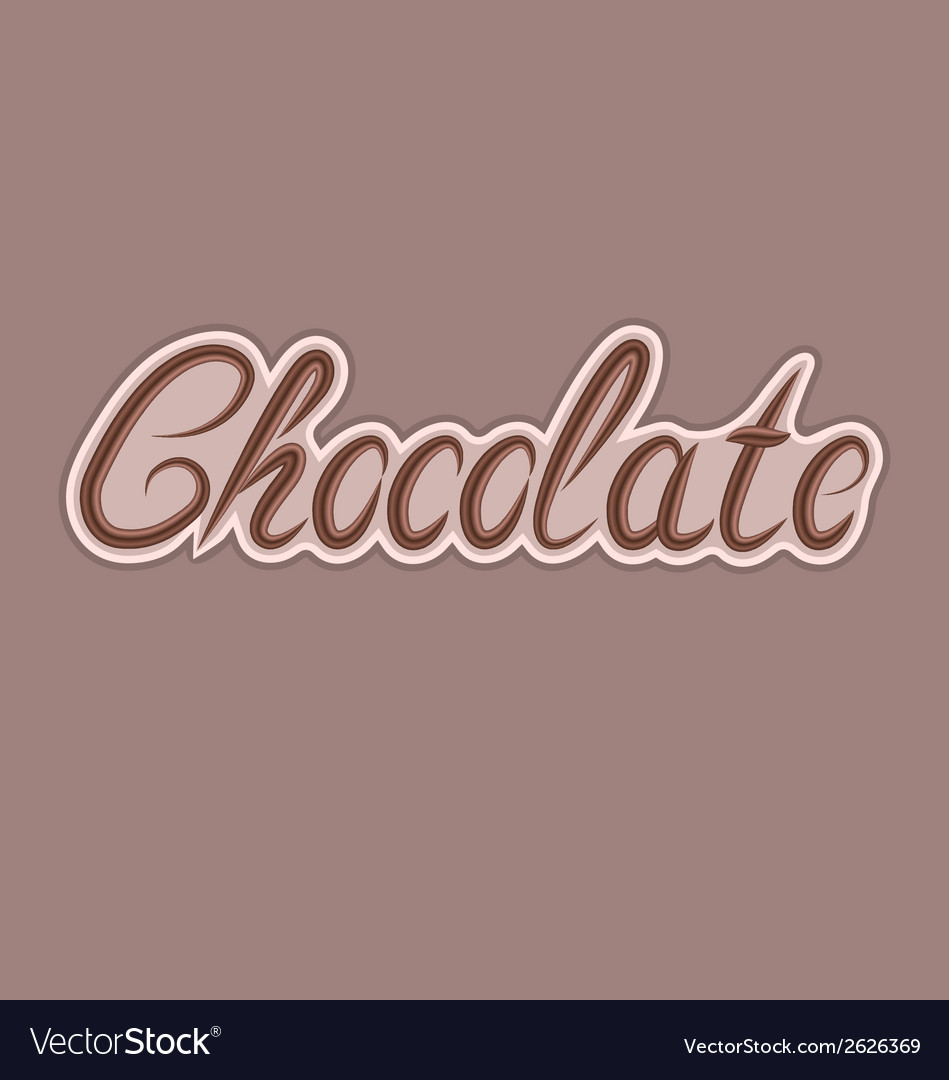 Delicious chocolate letters can be used for your vector | Price: 1 Credit (USD $1)