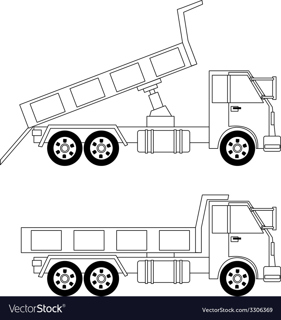 Dump truck vector | Price: 1 Credit (USD $1)