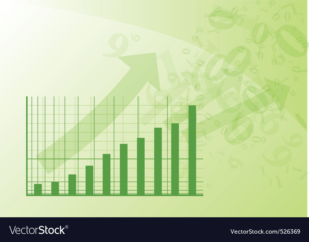 Green graph vector | Price: 1 Credit (USD $1)