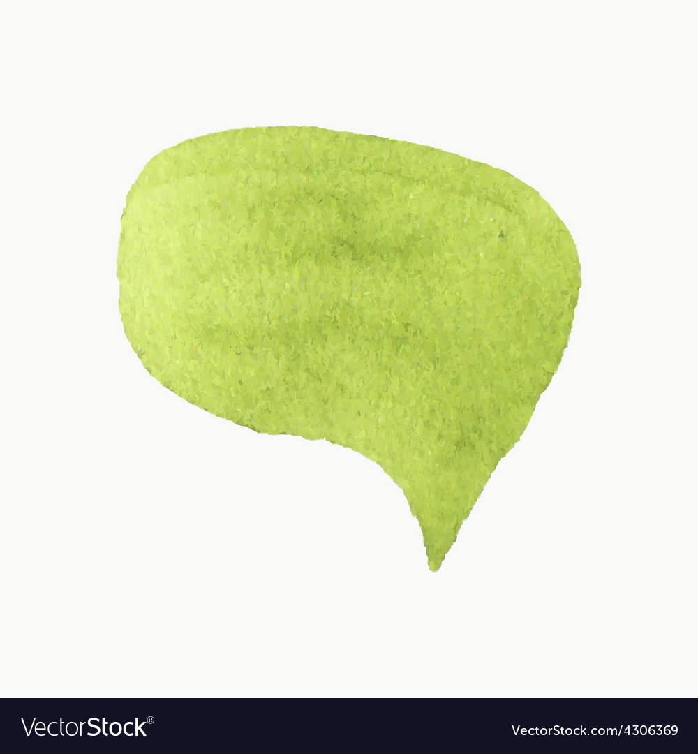 Handdrawn speech bubble real watercolor drawing vector