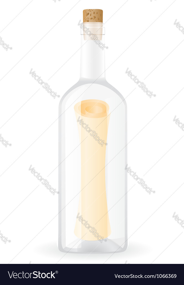 Message in the bottle vector | Price: 1 Credit (USD $1)