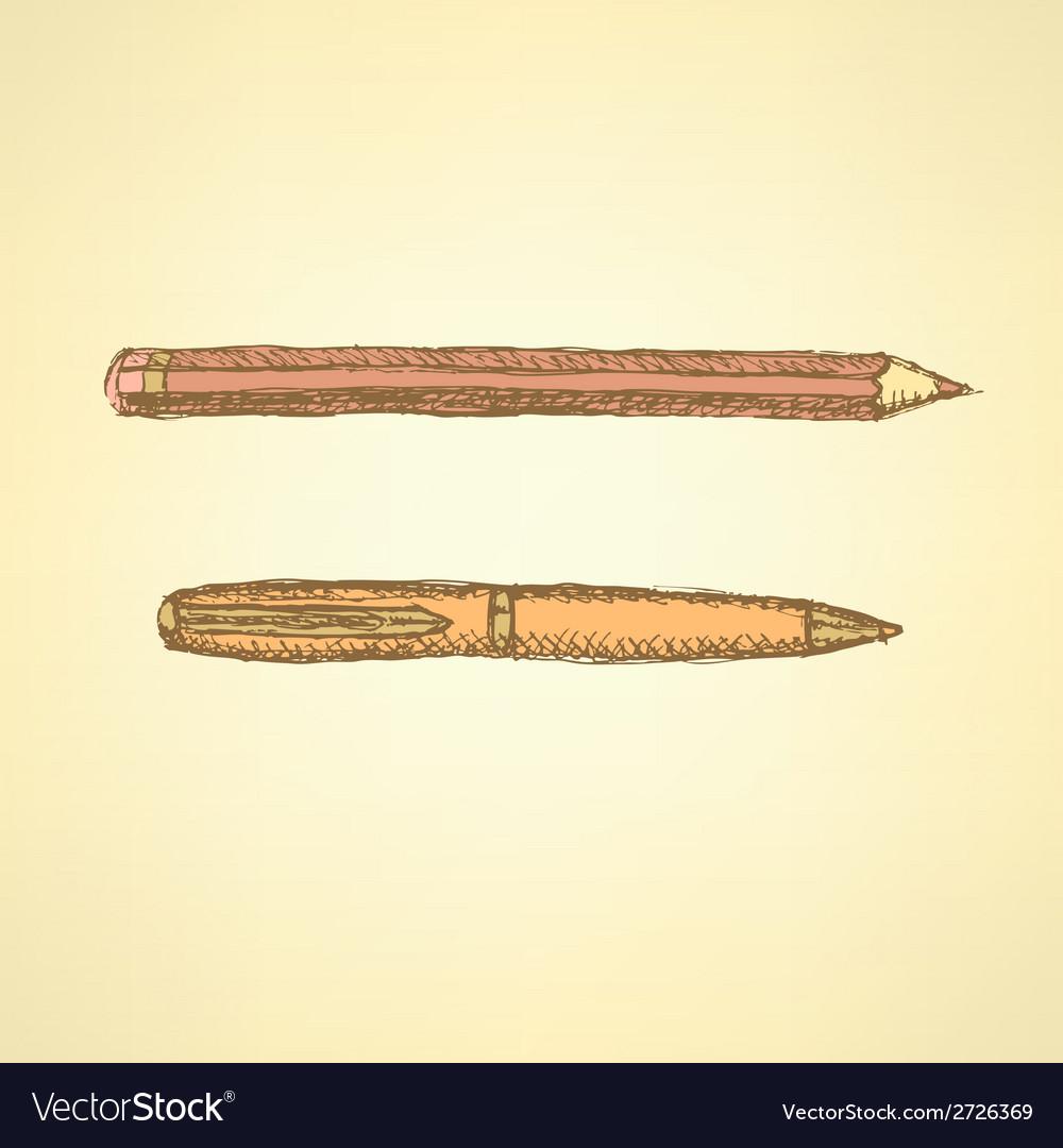 Pen pencil vector | Price: 1 Credit (USD $1)