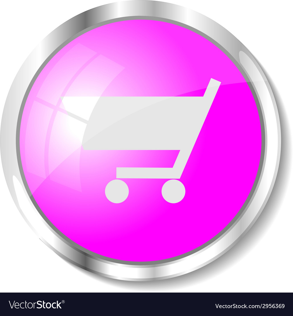 Pink web button vector | Price: 1 Credit (USD $1)