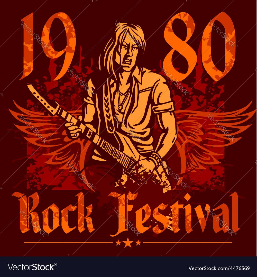 Rock concert poster - 1980s vector | Price: 3 Credit (USD $3)