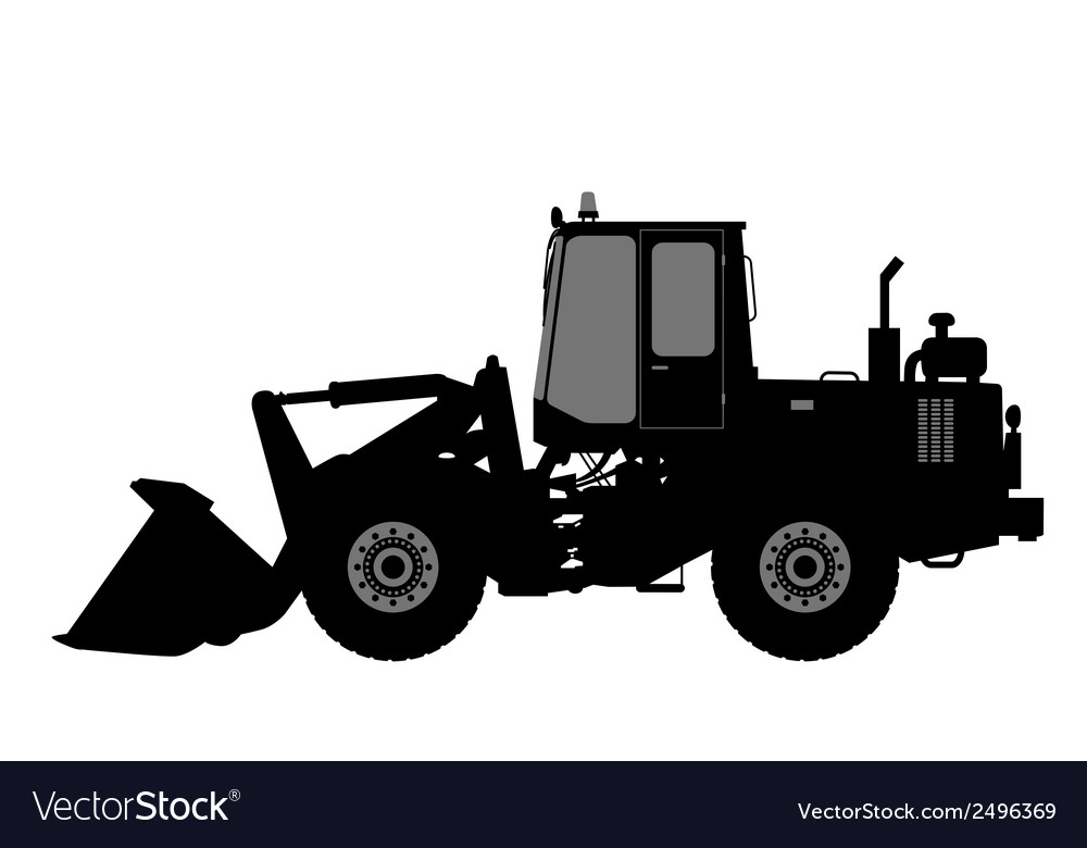 Silhouette the loader on a white background vector | Price: 1 Credit (USD $1)