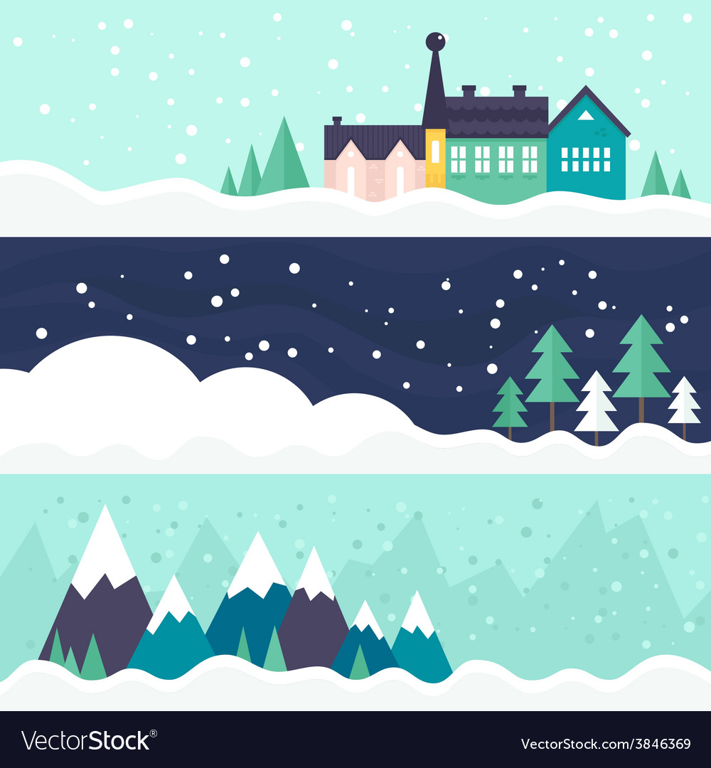 Winter card template vector | Price: 1 Credit (USD $1)