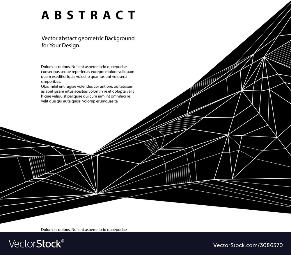 Abstract geometric background techno style black vector | Price: 1 Credit (USD $1)