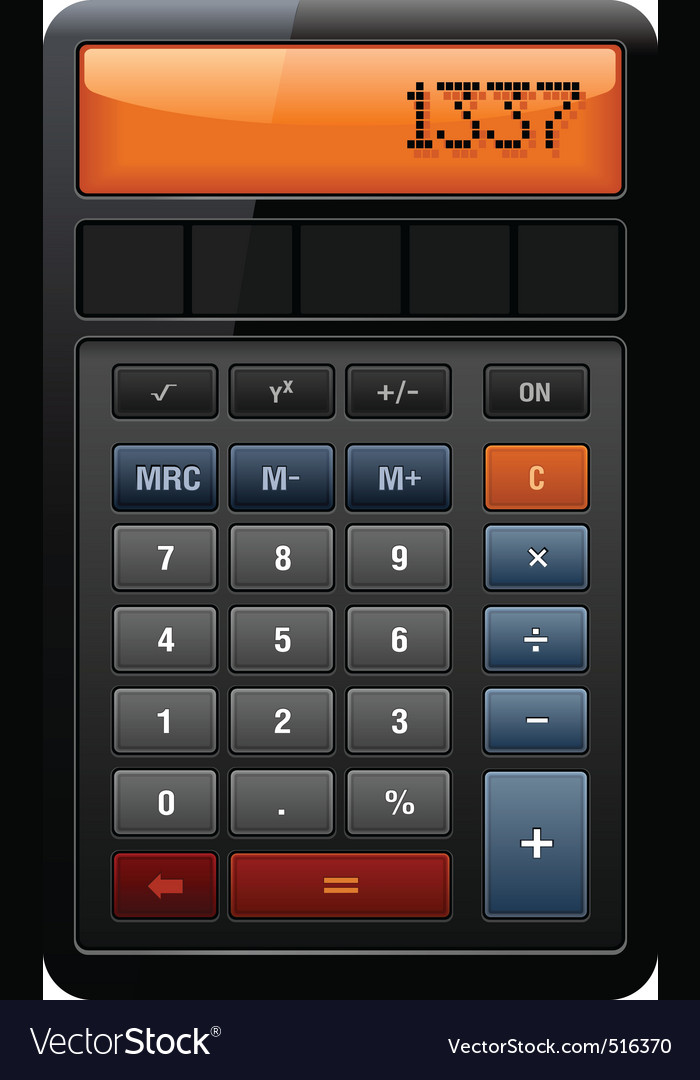 Classic accounting calculator vector | Price: 3 Credit (USD $3)
