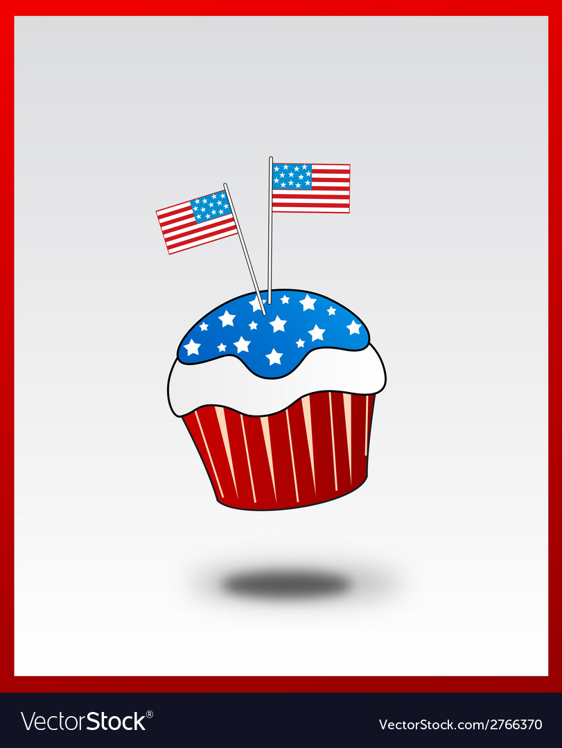 Cupcake with usa flag concept vector | Price: 1 Credit (USD $1)