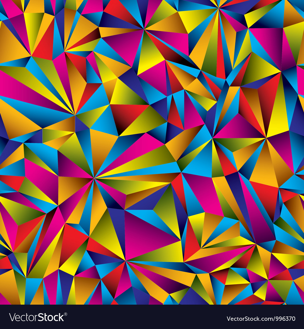 Geometric surface seamless pattern vector | Price: 1 Credit (USD $1)