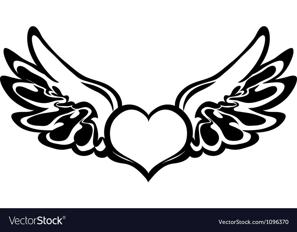Heart tattoo vector   Price: 1 Credit (USD $1)