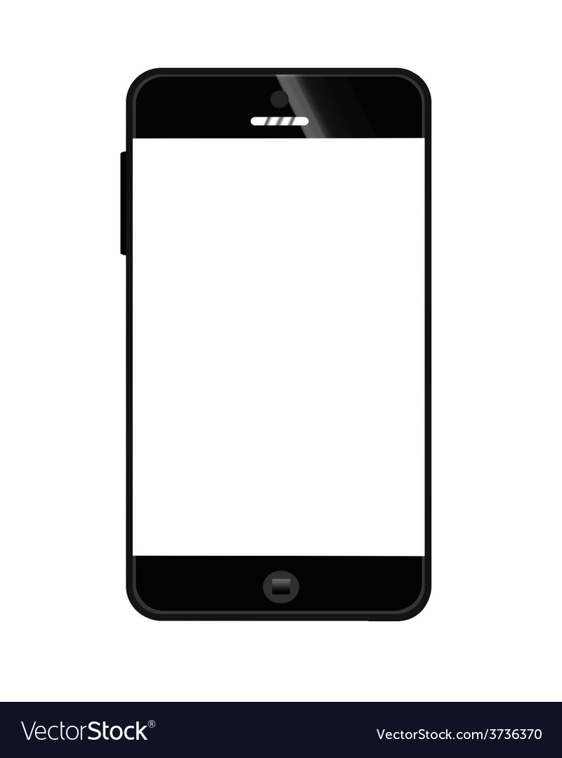 Mobile smart phone black 380 vector | Price: 1 Credit (USD $1)