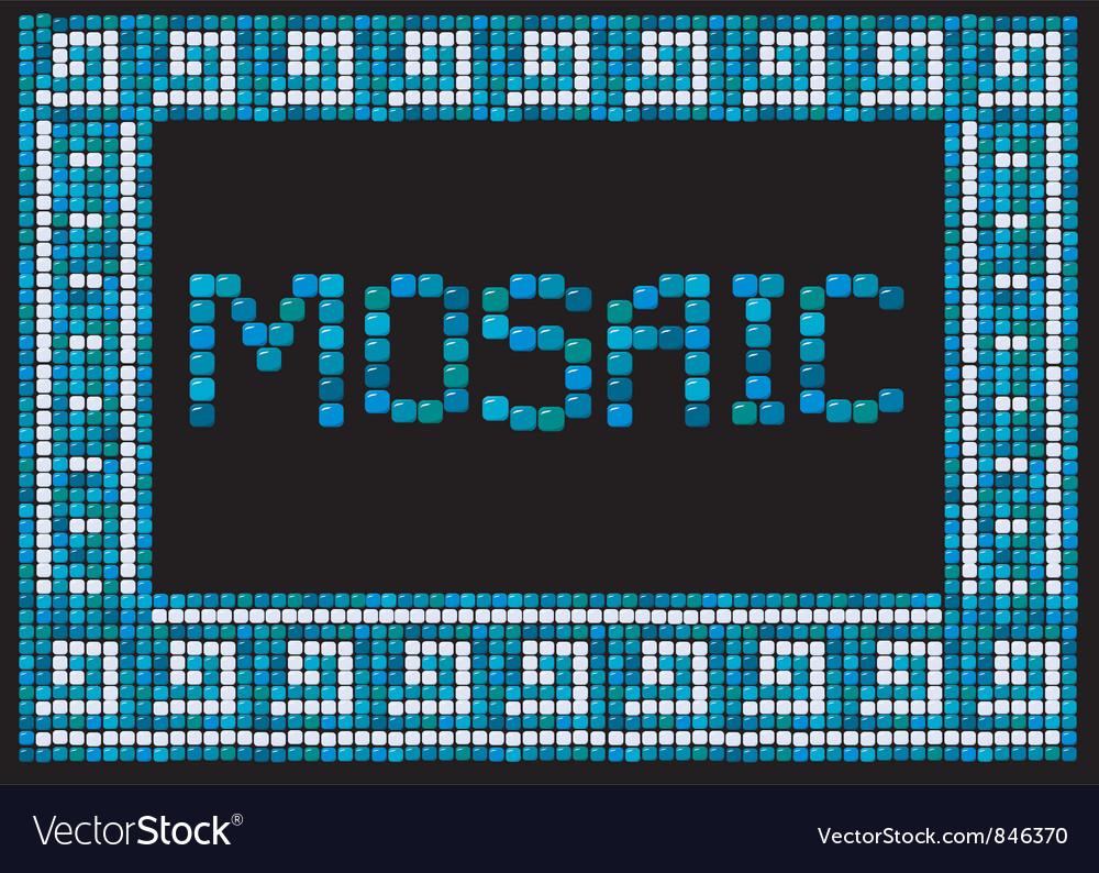 Mosaic frame - landscape border vector | Price: 1 Credit (USD $1)