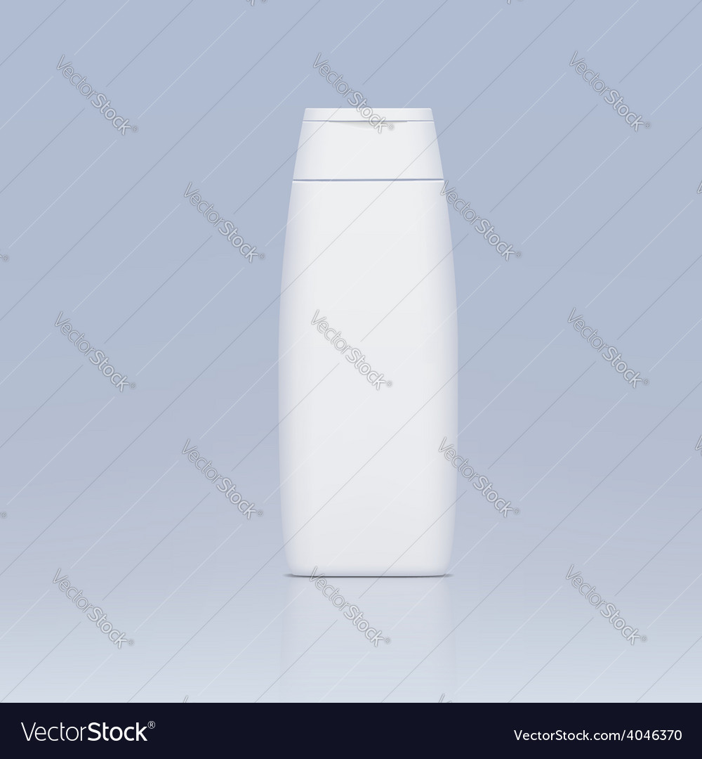 Plastic bottle for shampoo vector | Price: 1 Credit (USD $1)