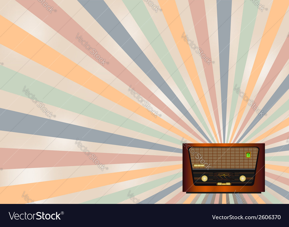 Retro radio background vector | Price: 1 Credit (USD $1)