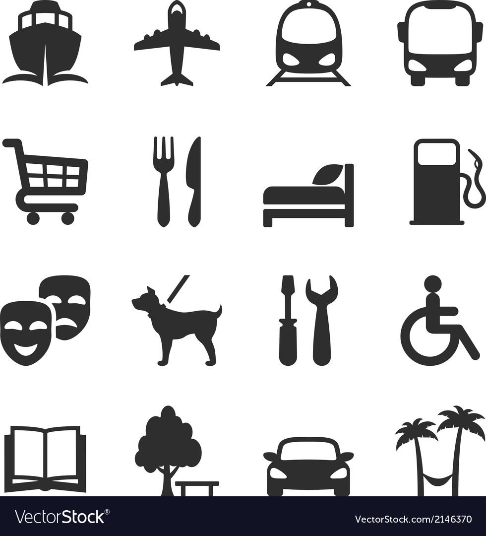 Set of icons for locations and services vector | Price: 1 Credit (USD $1)
