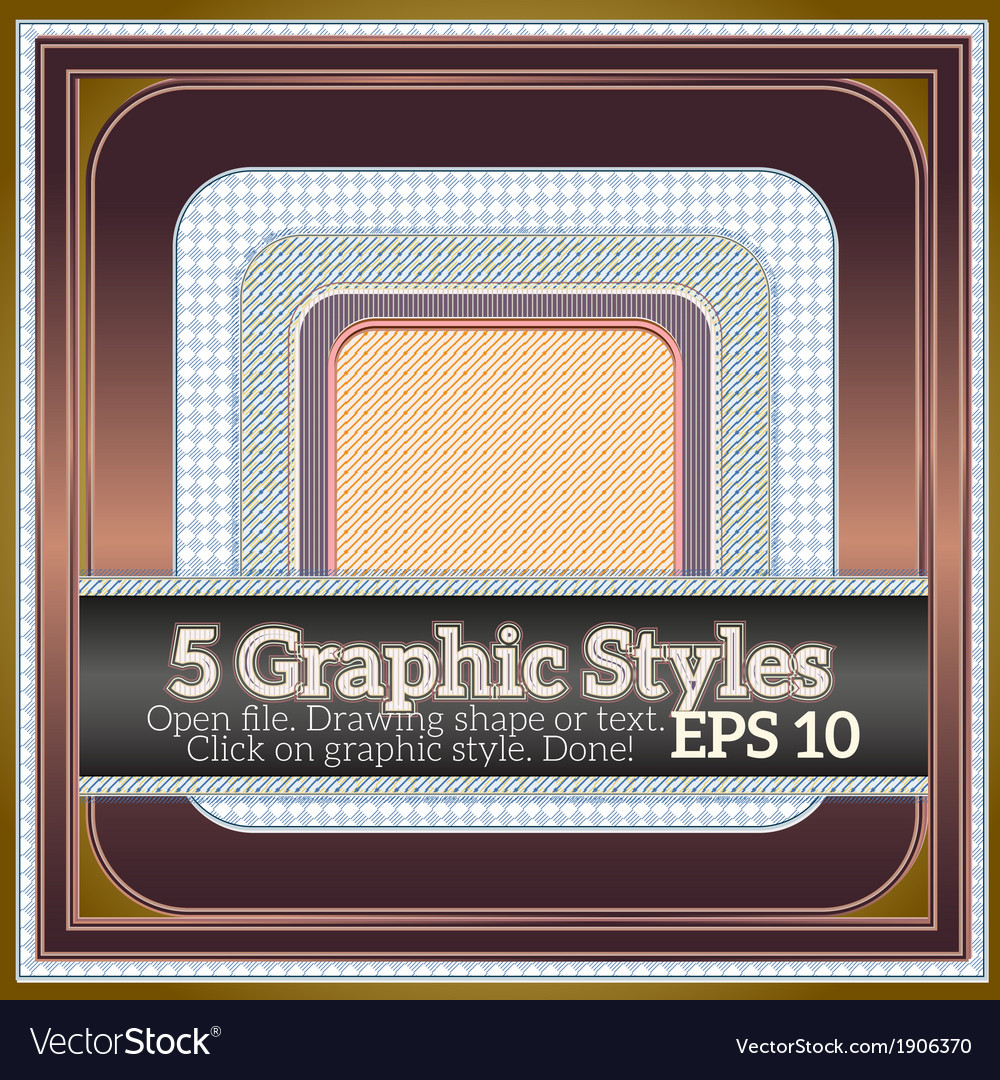 Set of various graphic styles with geometric vector | Price: 1 Credit (USD $1)