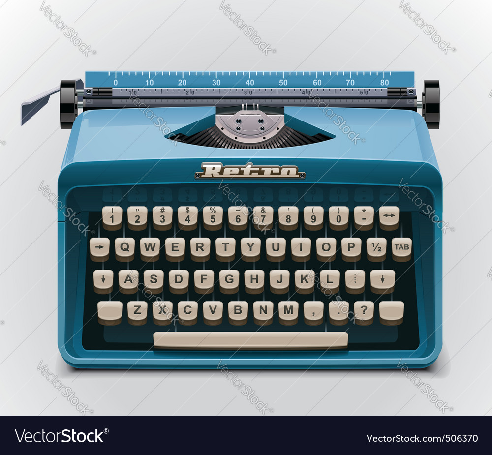 typewriter xxl icon vector | Price: 3 Credit (USD $3)