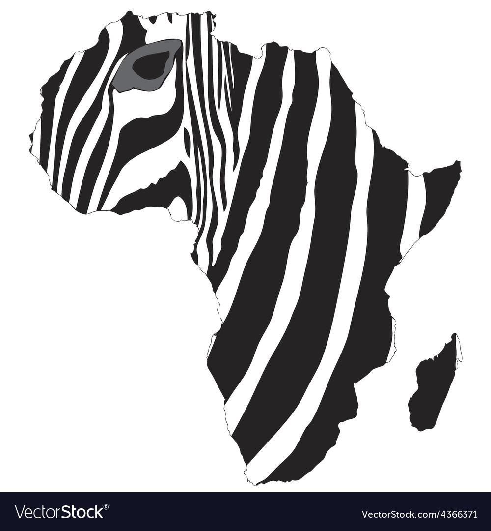 Africas zebra vector | Price: 1 Credit (USD $1)