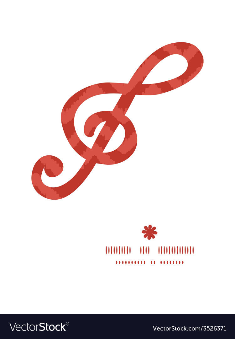 Colorful ikat chevron g clef musical silhouette vector | Price: 1 Credit (USD $1)