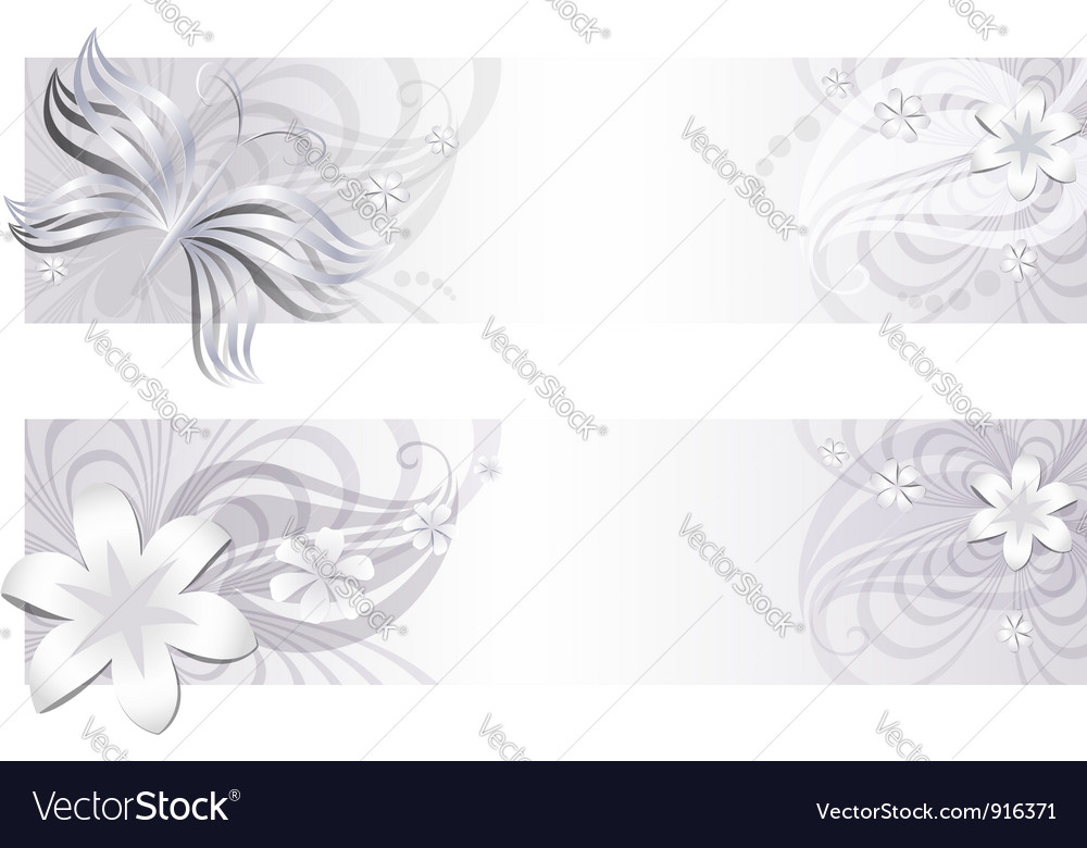 Delicate floral banners vector | Price: 1 Credit (USD $1)