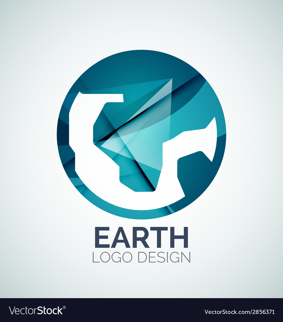 Earth logo design made of color pieces vector   Price: 1 Credit (USD $1)