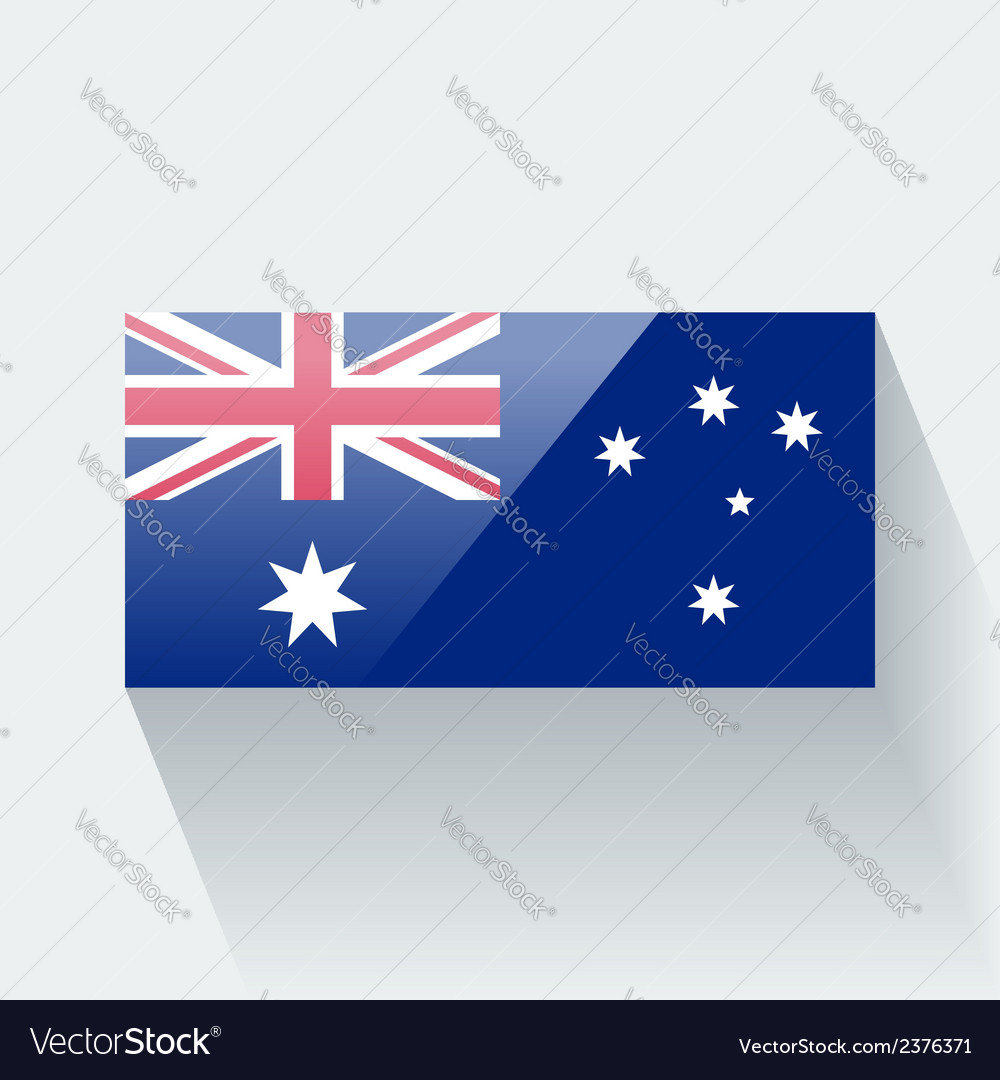 Flag of australia vector | Price: 1 Credit (USD $1)