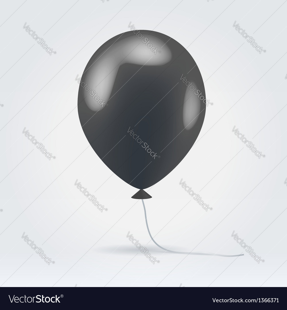 Glossy black balloon vector | Price: 1 Credit (USD $1)