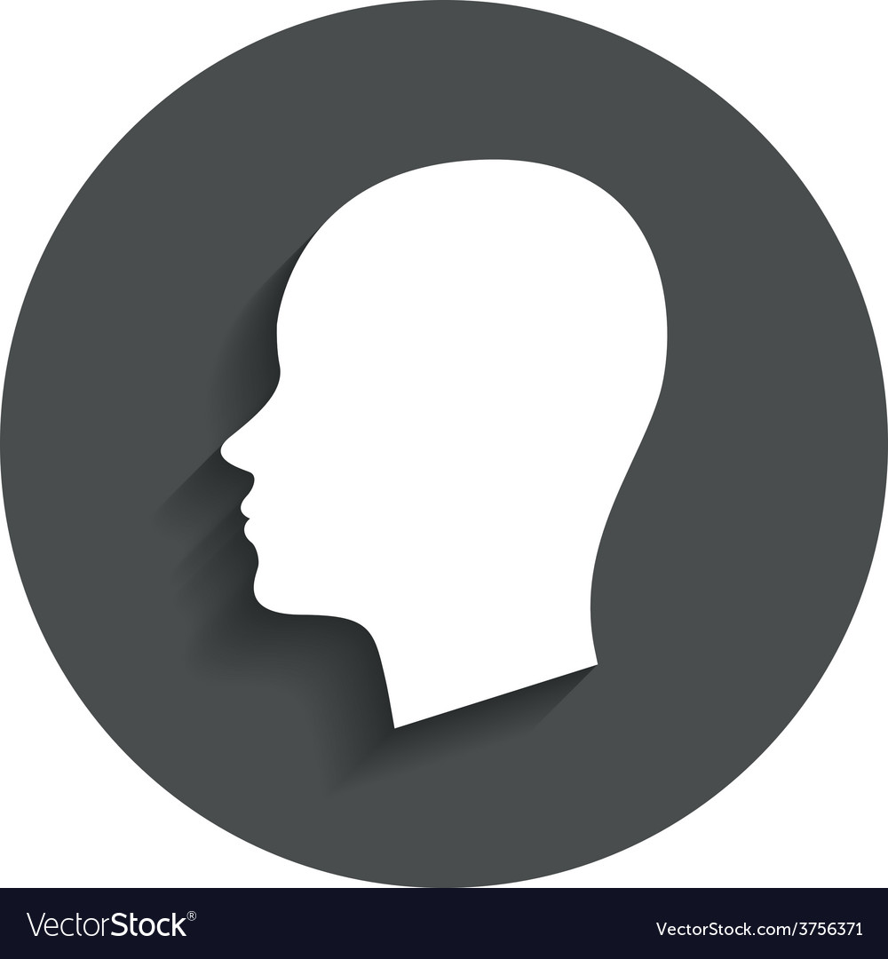 Head sign icon female woman human head vector | Price: 1 Credit (USD $1)