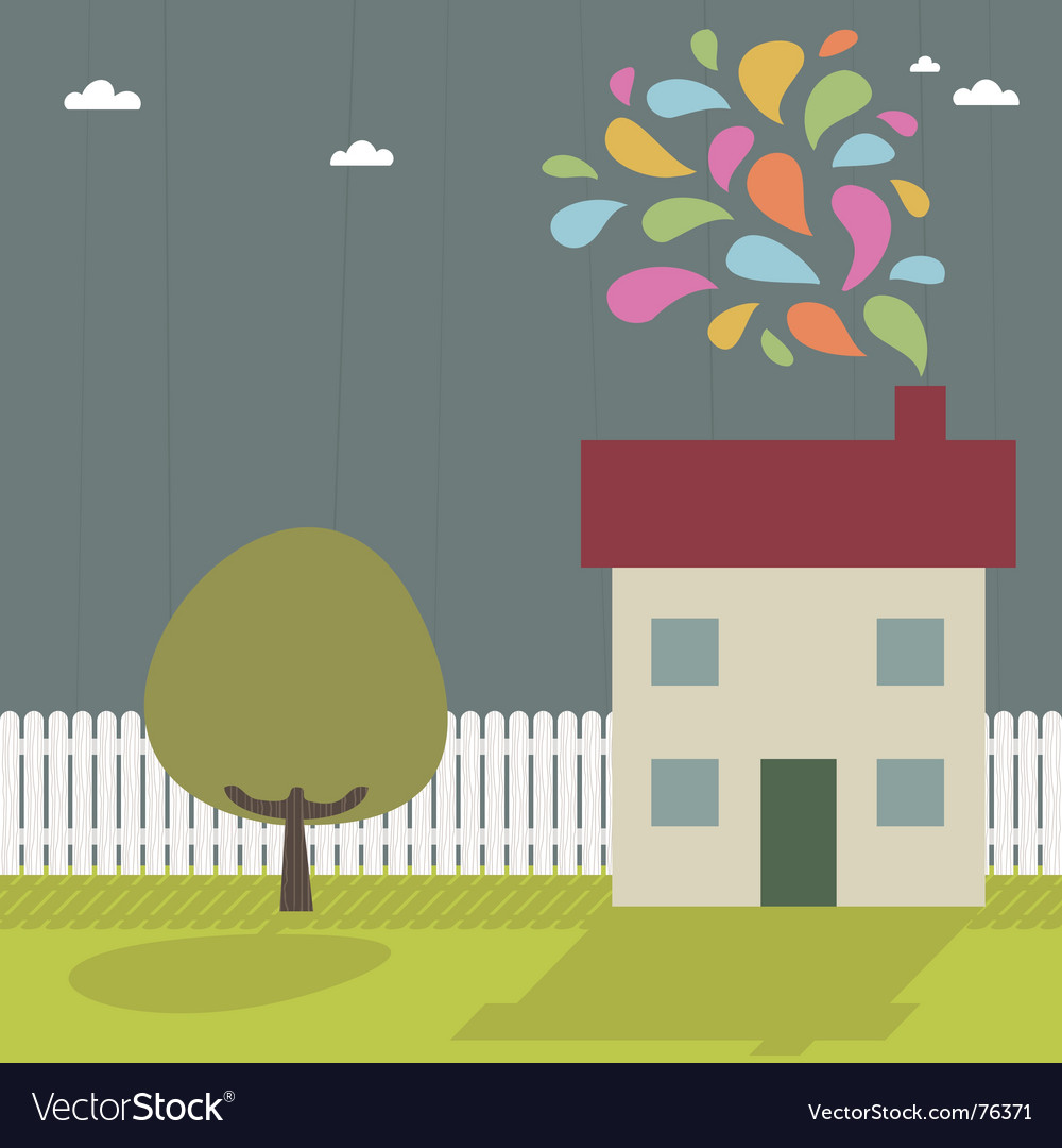 Landscape and house vector   Price: 1 Credit (USD $1)