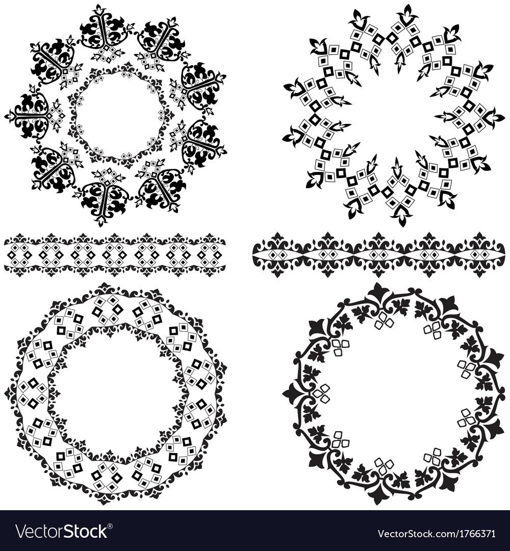 Ottoman design elements vector | Price: 1 Credit (USD $1)