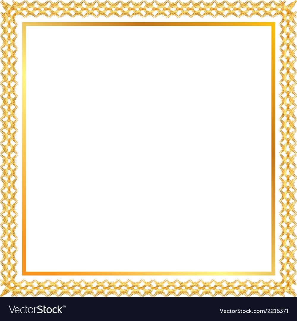 Spica gold frame vector | Price: 1 Credit (USD $1)