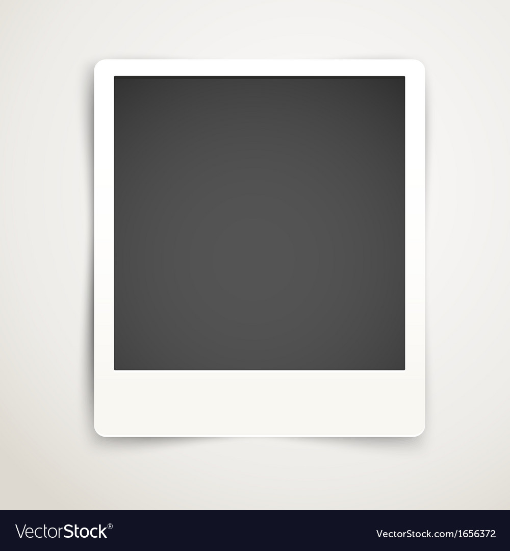 Blank photo frame template ready for a content vector
