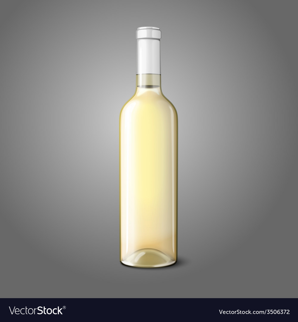 Blank realistic bottle for white wine vector | Price: 1 Credit (USD $1)