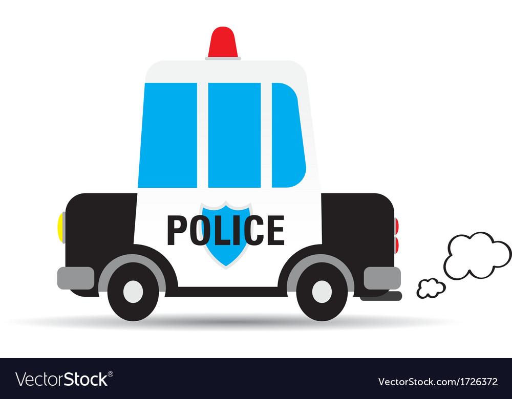 Cartoon car police vector | Price: 1 Credit (USD $1)