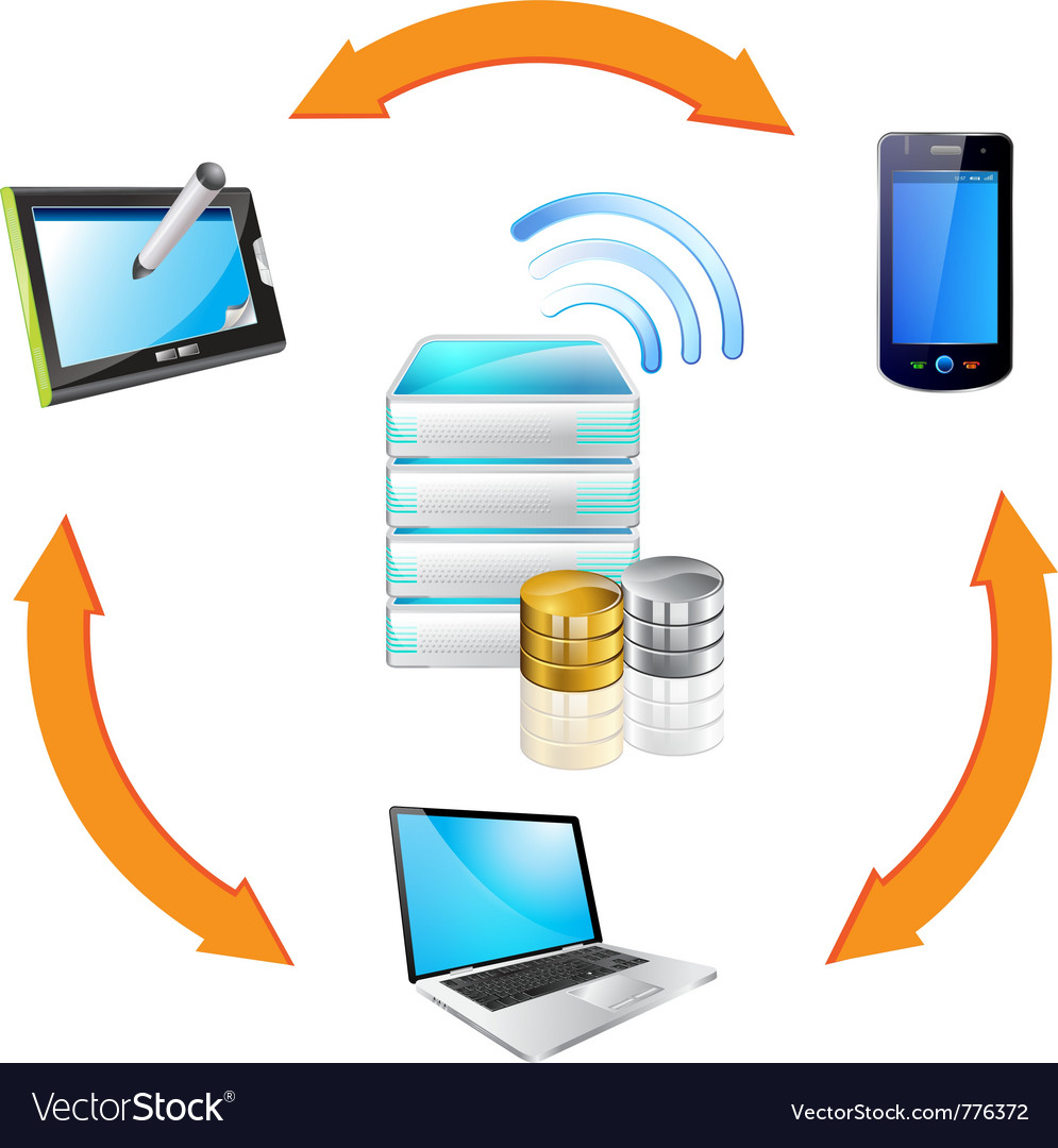 Data transfer vector | Price: 3 Credit (USD $3)