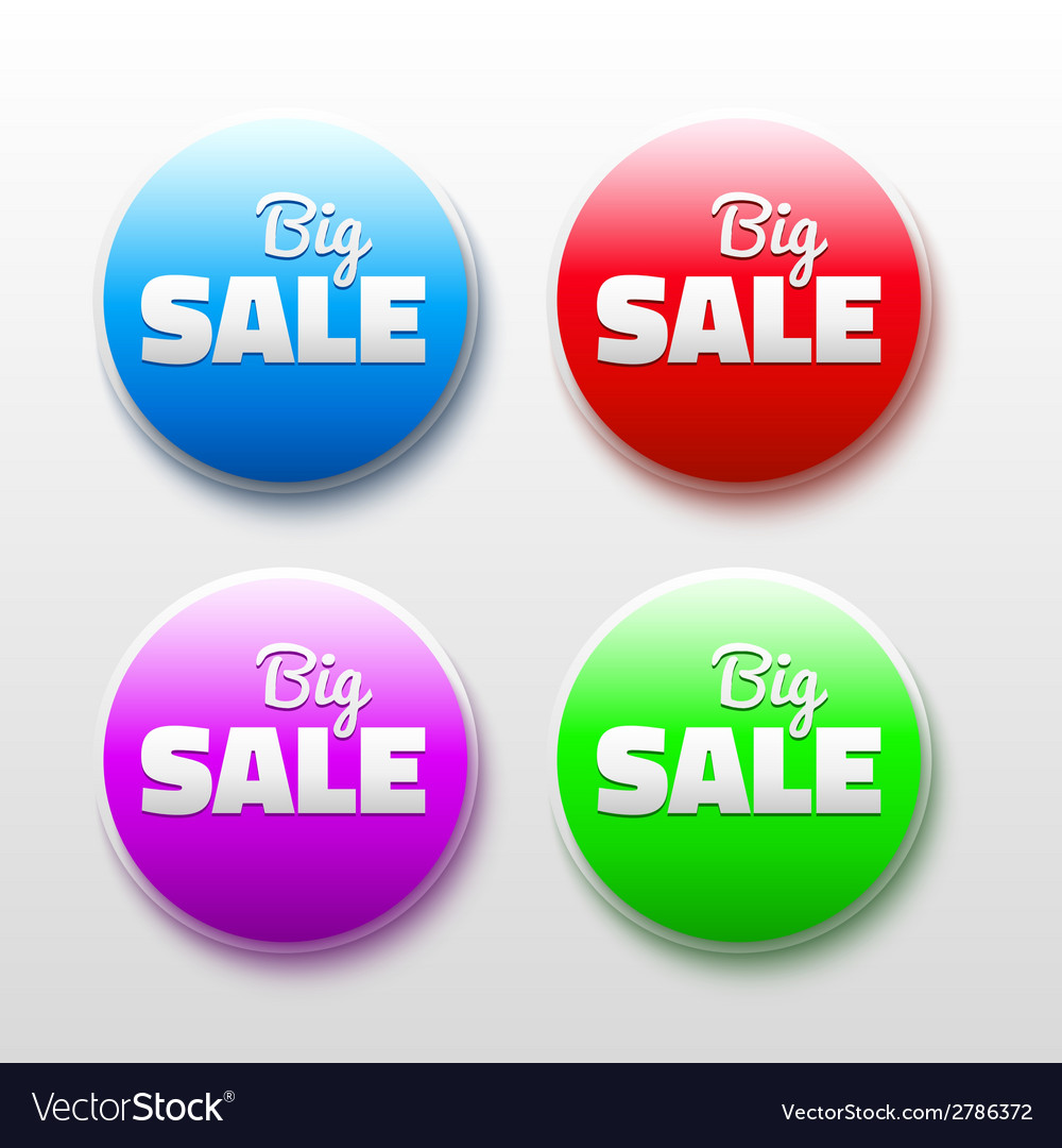 Design elements with sale text 3d abstract labels vector | Price: 1 Credit (USD $1)