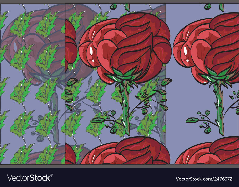 Floral pattern repeat flower bud on a stem roses vector | Price: 1 Credit (USD $1)