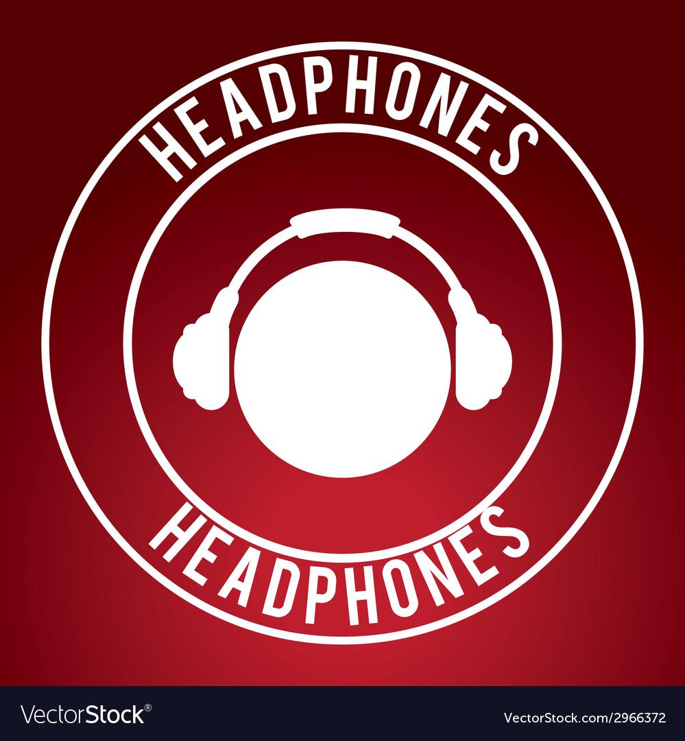 Headphones design vector | Price: 1 Credit (USD $1)