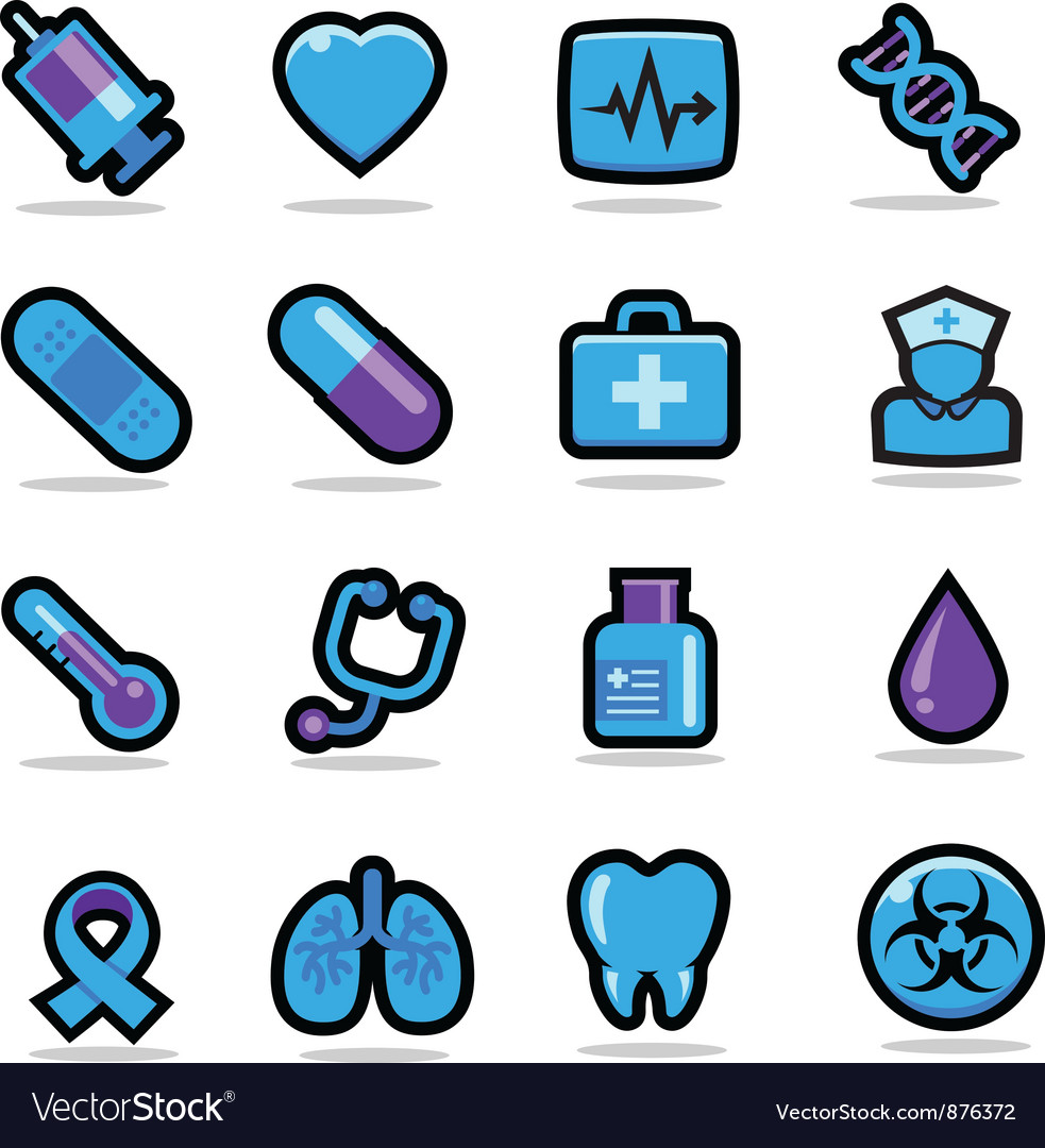 Health care icons set vector | Price: 3 Credit (USD $3)
